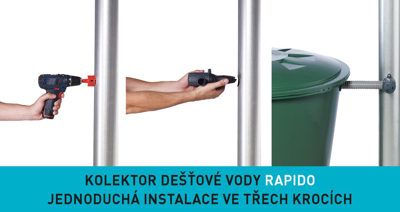 instalace sběrače Rapido